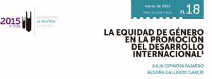 La equidad de género en la promoción del desarrollo internacional