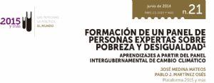 Formación de un panel de personas expertas sobre pobreza y desigualdad